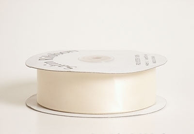 7/8 Inch Ivory Satin Ribbon 100 Yards
