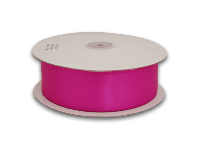 7/8 Inch Fuchsia Satin Ribbon 100 Yards