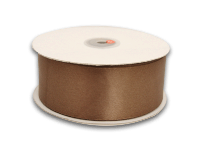 7/8 Inch Brown Satin Ribbon 100 Yards