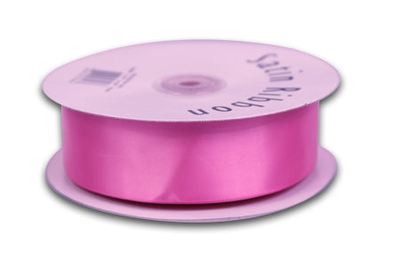 7/8 Inch Hot Pink Satin Ribbon 100 Yards