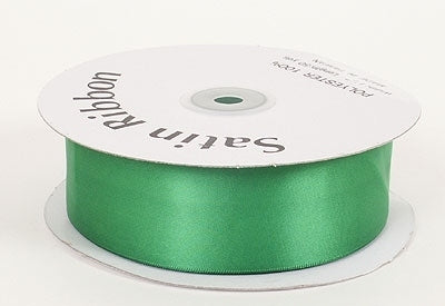 1-1/2 Inch Emerald Satin Ribbon 50 Yards