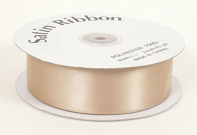 1-1/2 Inch Tan Satin Ribbon 50 Yards