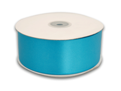 1-1/2 Inch Turquoise Satin Ribbon 50 Yards