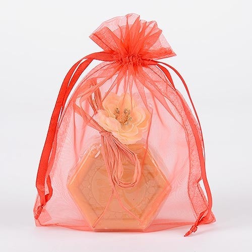 10 Red 20x21 Organza Favor Bags