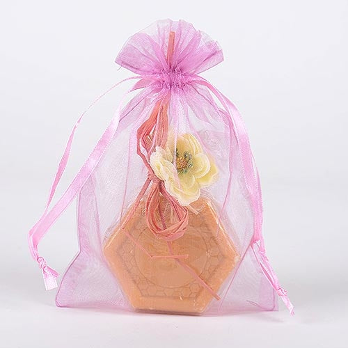 10 Light Pink 22x25.5 Organza Favor Bags