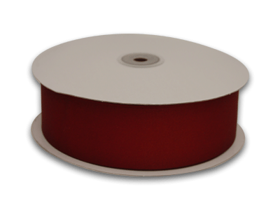3/8 Inch Burgundy Grosgrain Ribbon 50 Yards