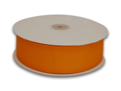 7/8 Inch Orange Grosgrain Ribbon 50 Yards