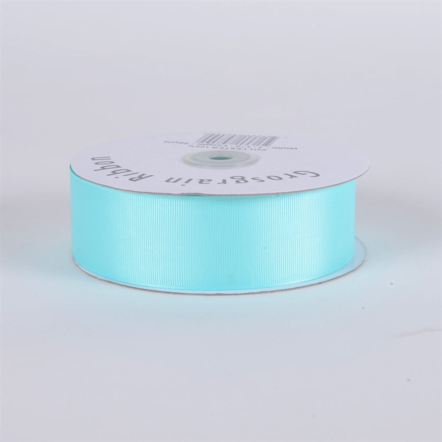 7/8 Inch Aqua Blue Grosgrain Ribbon 50 Yards