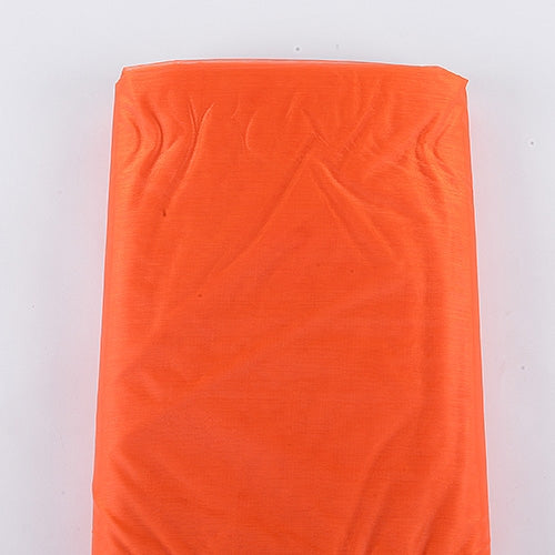 60 Inch x 25 Yd Orange Organza Fabric