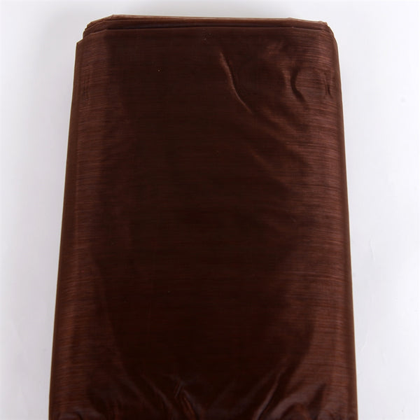 60 Inch x 25 Yd Brown Organza Fabric