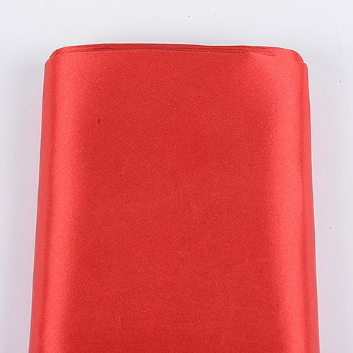 Red 60 Inch Satin Fabric 10 Yards