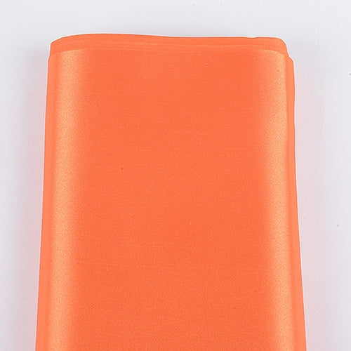Orange 60 Inch Satin Fabric 10 Yards