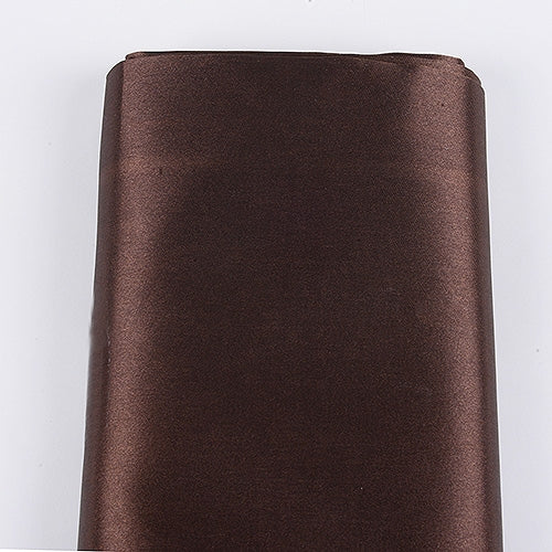 Brown 60 Inch Satin Fabric 10 Yards