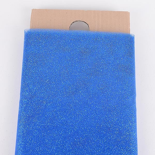 54 Inch Royal Blue Glitter Tulle Fabric Bolt