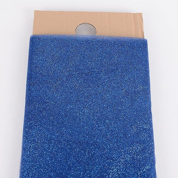 54 Inch Navy Blue Glitter Tulle Fabric Bolt