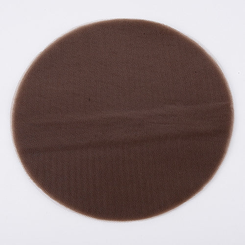 Chocolate - Premium Tulle Circle - ( 12 inch | 25 Pieces )
