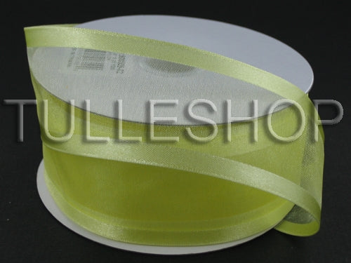 1-1/2 Inch Baby Maize Organza Ribbon Two Satin Edges
