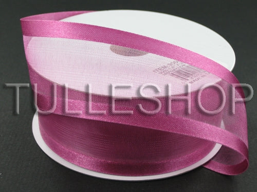 7/8 Inch Colonial Rose Organza Ribbon Two Satin Edges