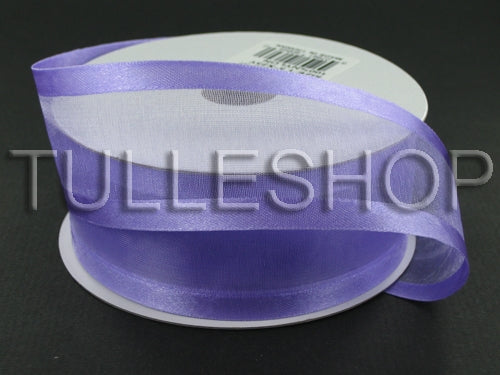 3/8 Inch Light Orchid Organza Ribbon Two Satin Edges