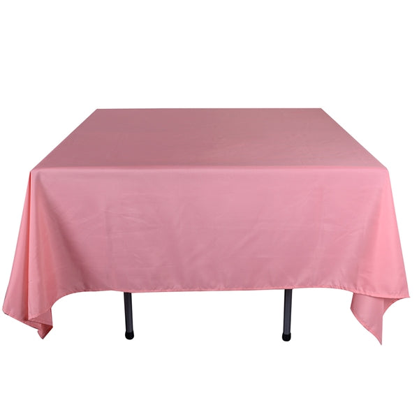 Coral 52 x 52 Inch Square Polyester Tablecloths