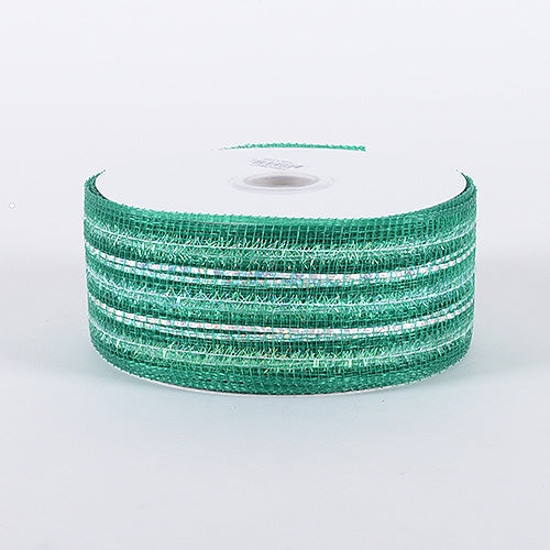 Emerald - Laser Metallic Mesh Ribbon - ( 2-1/2 inch x 25 Yards )