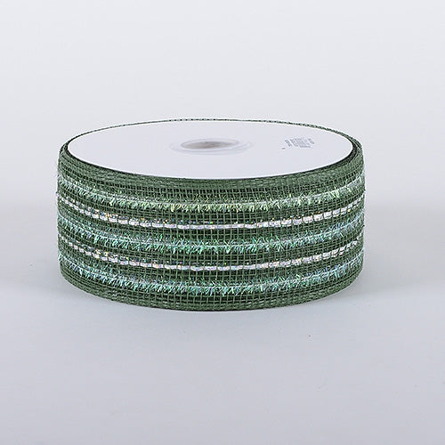 Willow - Laser Metallic Mesh Ribbon - ( 4 Inch x 25 Yards )