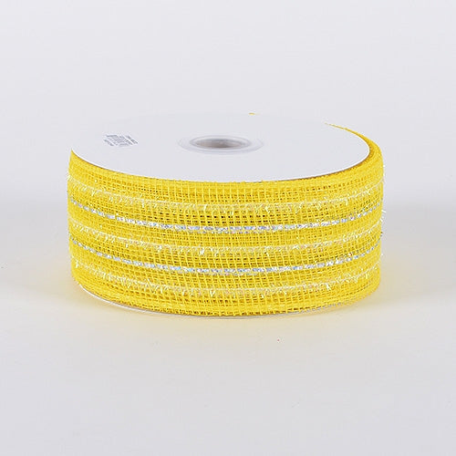 Daffodil - Laser Metallic Mesh Ribbon - ( 4 Inch x 25 Yards )