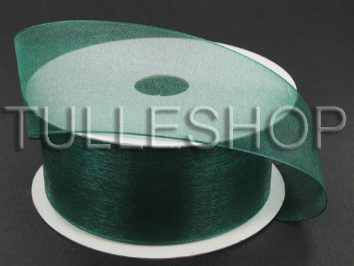 7/8 Inch Hunter Green Organza Ribbons