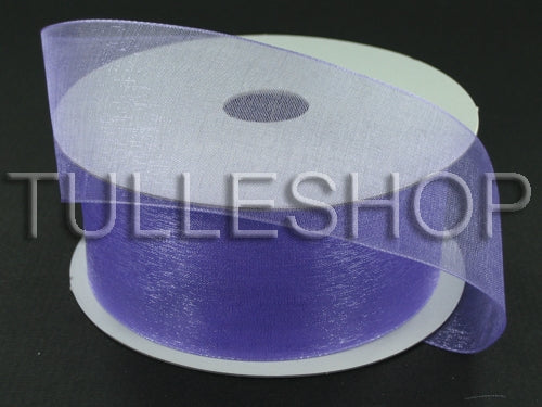 7/8 Inch Light Orchid Organza Ribbons