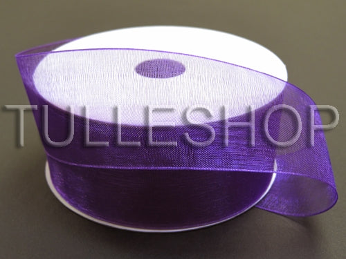 7/8 Inch Purple Organza Ribbons