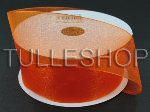 5/8 Inch Orange Organza Ribbons