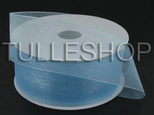 3/8 Inch Light Blue Organza Ribbons