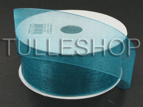 3/8 Inch Teal Organza Ribbons