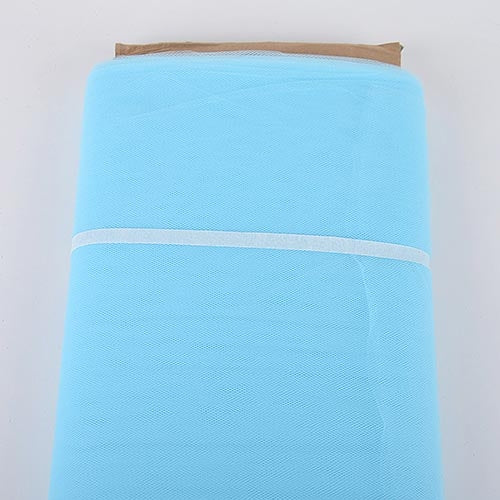 Light Blue 54 Inch Tulle Fabric Bolt x 40 Yards