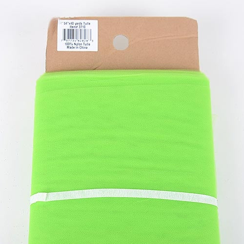 Apple Green 54 Inch Tulle Fabric Bolt x 40 Yards