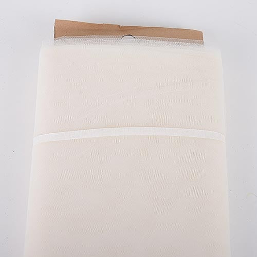 Ivory 54 Inch Tulle Fabric Bolt x 40 Yards
