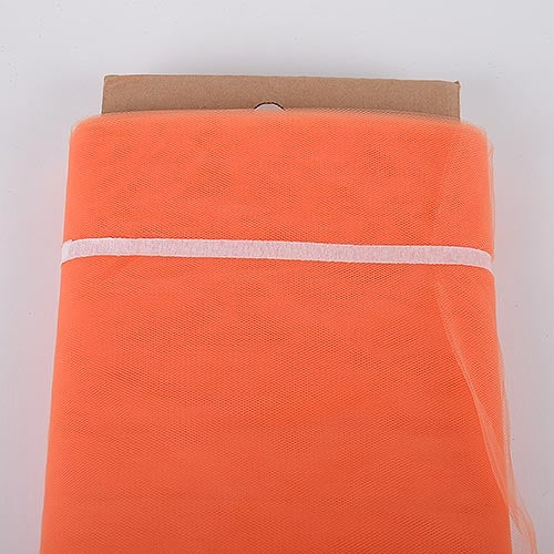 Orange 54 Inch Tulle Fabric Bolt x 40 Yards
