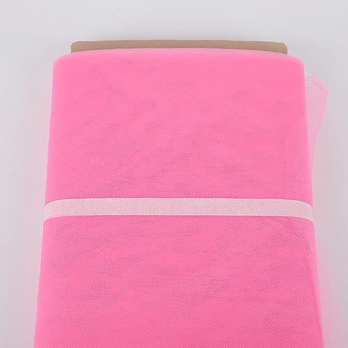 Shocking Pink 54 Inch Tulle Fabric Bolt x 40 Yards