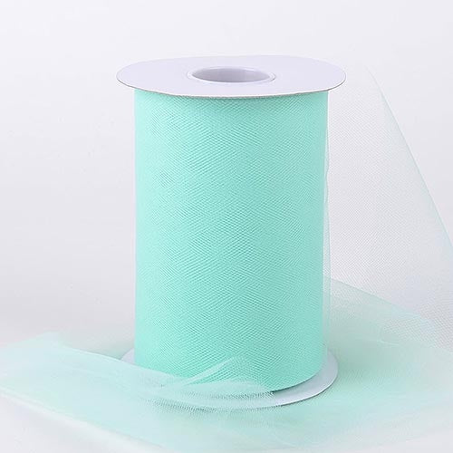 Mint Green 6 Inch Tulle Fabric Roll 100 Yards