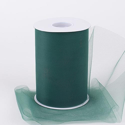 Hunter Green 6 Inch Tulle Fabric Roll 100 Yards