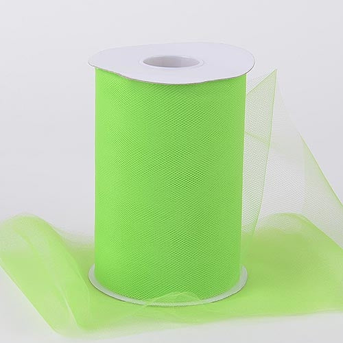 Apple Green 6 Inch Tulle Fabric Roll 100 Yards