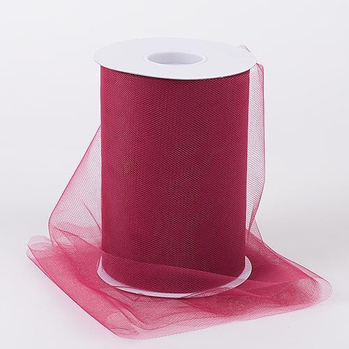Burgundy 6 Inch Tulle Fabric Roll 100 Yards