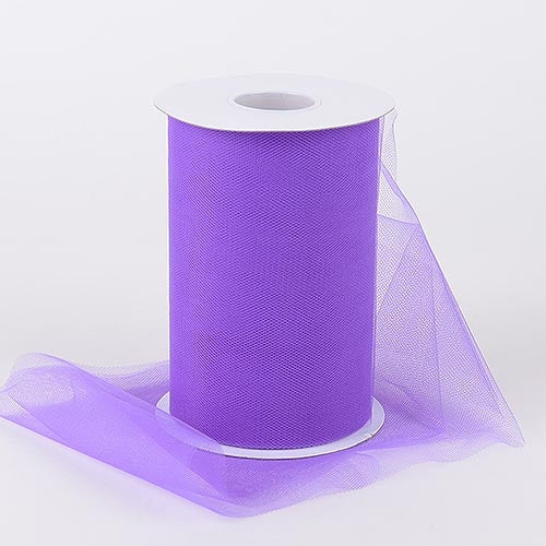 Purple 6 Inch Tulle Fabric Roll 100 Yards