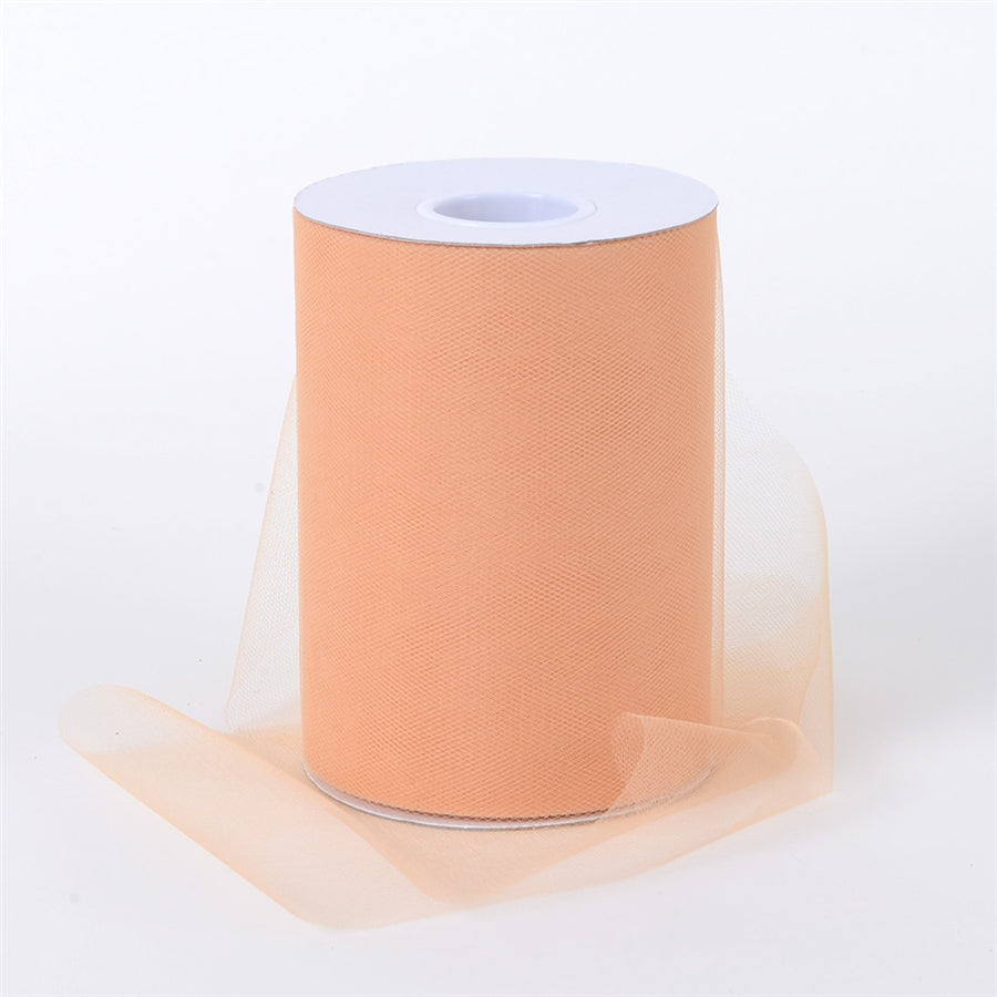 Pumpkin Gold 6 Inch Tulle Fabric Roll 100 Yards