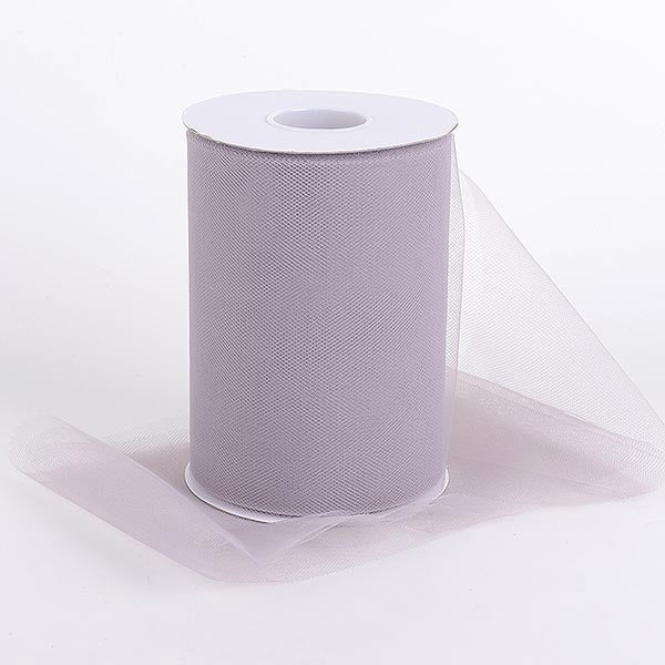 Silver 6 Inch Tulle Fabric Roll 100 Yards