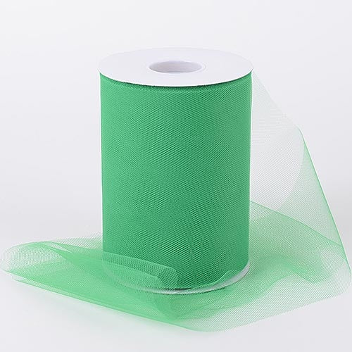 Emerald 6 Inch Tulle Fabric Roll 100 Yards
