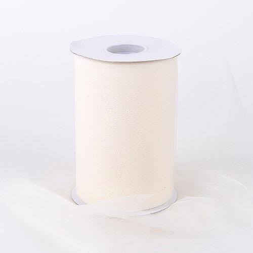 Ivory 6 Inch Tulle Fabric Roll 100 Yards