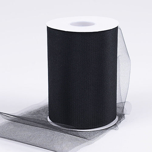 Black 6 Inch Tulle Fabric Roll 100 Yards