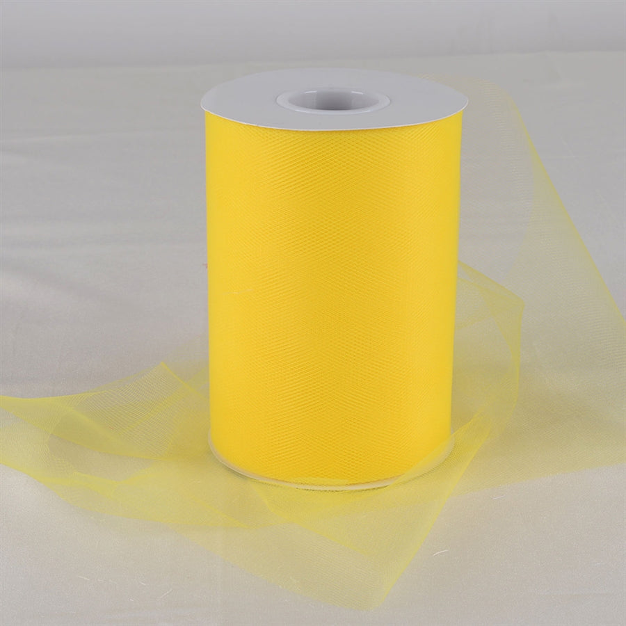 Yellow 6 Inch Tulle Fabric Roll 100 Yards