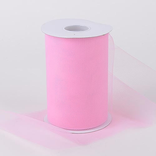 Pink 6 Inch Tulle Fabric Roll 100 Yards
